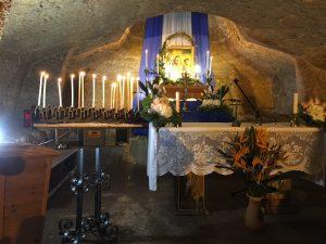 Sotterraneo della chiesa di Leuca Piccola - foto di Germana Cabrelle