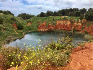 Il lago di bauxite ad Otranto - foto di Germana Cabrelle
