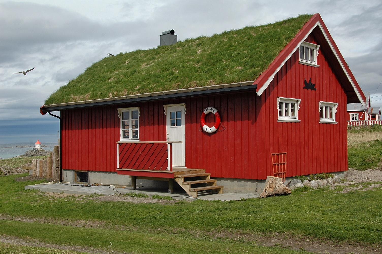 Abitazione tipica dell'arcipelago delle Lofoten (foto di Germana Cabrelle)
