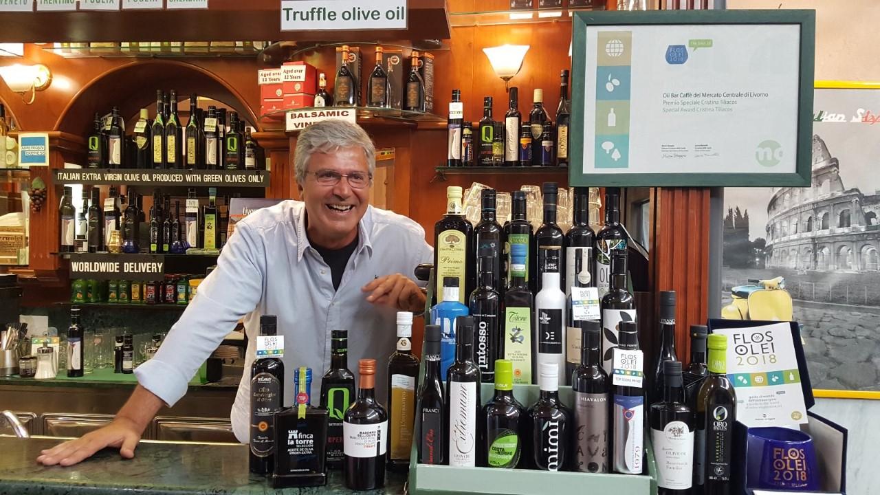 Alessandro Camici all'oil bar